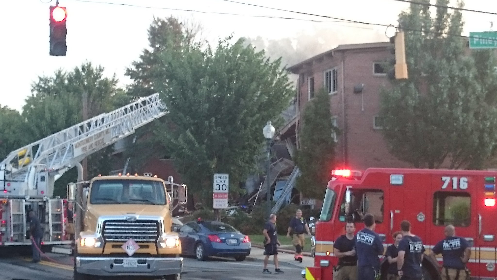 photos apartment explosion in silver spring wtop