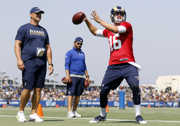 Keenum to start against Cowboys but Goff will play