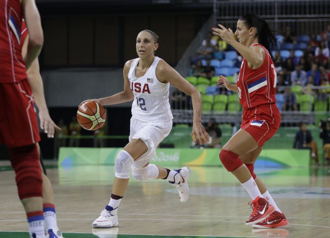 US rolls on, routs Serbia 110-84 in women's basketball