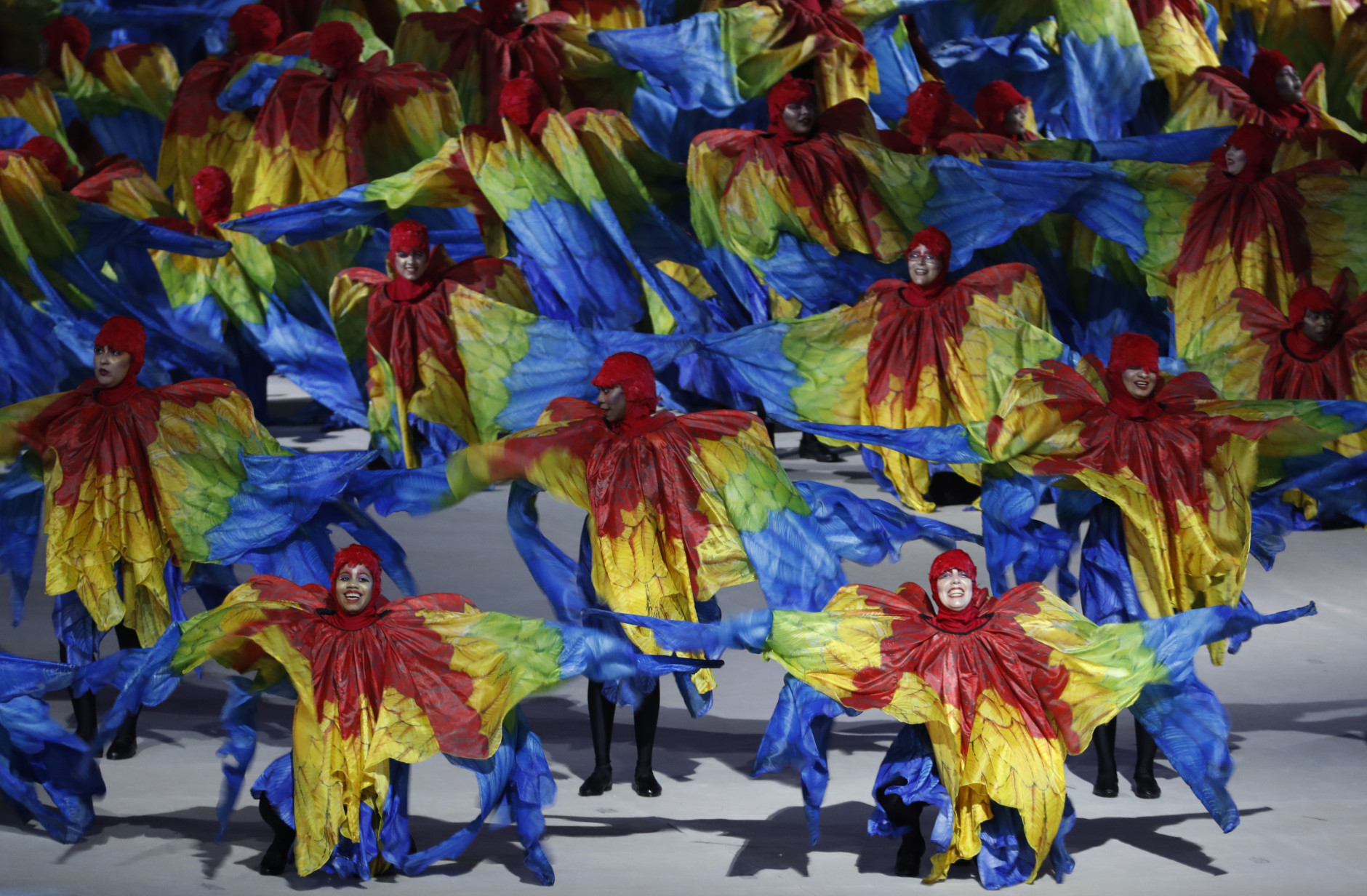Dancers perform during the closing ceremony for the Summer Olympics in Rio de Janeiro, Brazil, Sunday, Aug. 21, 2016. (AP Photo/Vincent Thian)