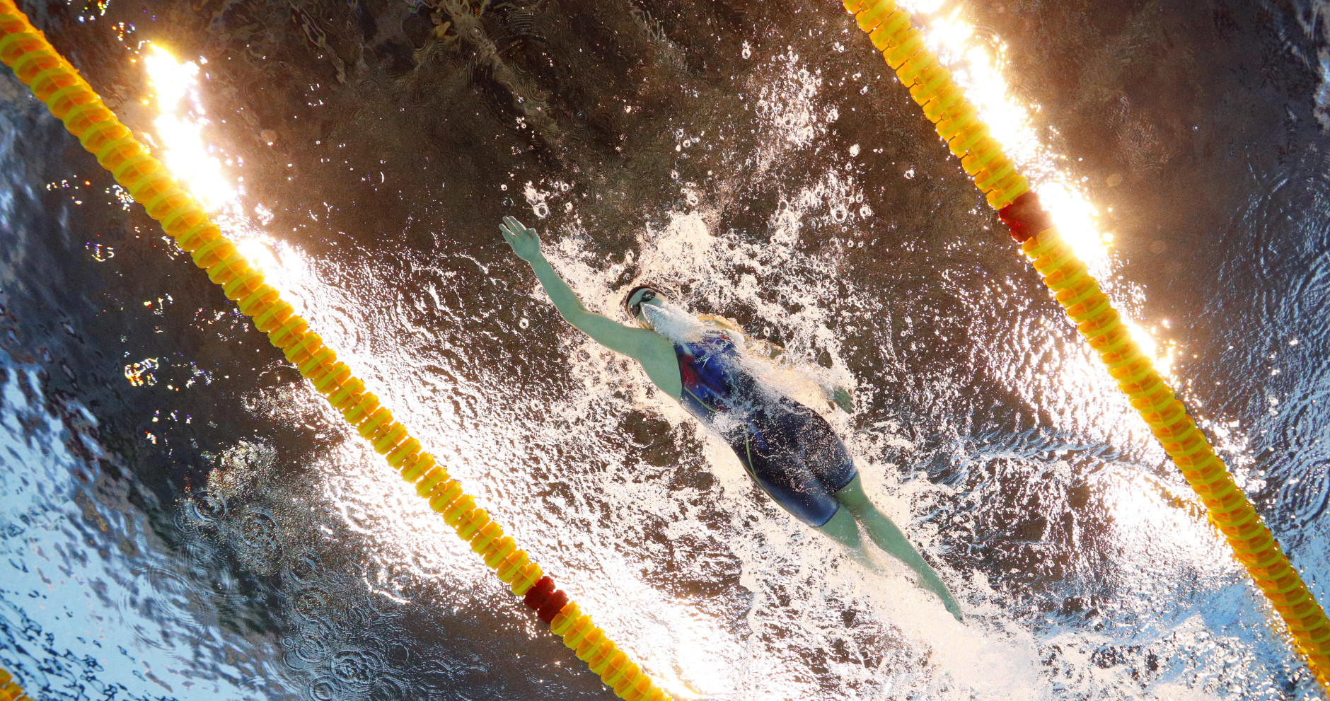 United States' Katie Ledecky competes in the final of the women's 400-meter freestyle during the swimming competitions at the 2016 Summer Olympics, Sunday, Aug. 7, 2016, in Rio de Janeiro, Brazil. (AP Photo/David J. Phillip)