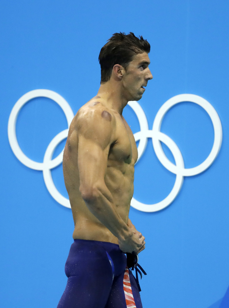 United States' Michael Phelps after placing second in a semifinal of the men's 200-meter butterfly during the swimming competitions at the 2016 Summer Olympics in Rio de Janeiro, Brazil, Monday, Aug. 8, 2016. (AP Photo/Matt Slocum)