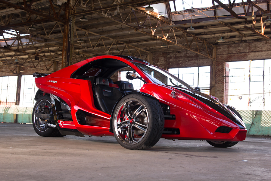 Some autocycles have hard tops such as this model by Tanom Motors that's based in Culpeper, Virginia. A coupe model as pictured would not require a driver to wear a helmet in Virginia. A roadster convertible version would require a driver to wear a helmet in most states. (Courtesy Tanom Motors)