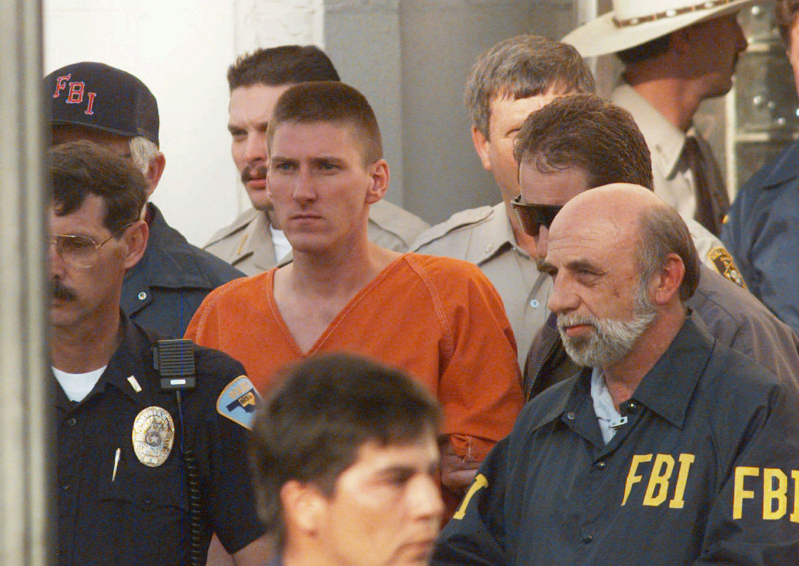 In 1997, an unrepentant Timothy McVeigh was formally sentenced to death for the Oklahoma City bombing.(AP Photo/David Longstreath, File)