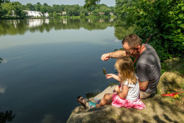 Wilde Lake, one of three man-made lakes in Columbia, Maryland, is named after Frazar Wilde, who led Connecticut General when it invested in James Rouse's vision for a planned community. (Courtesy Columbia Association)