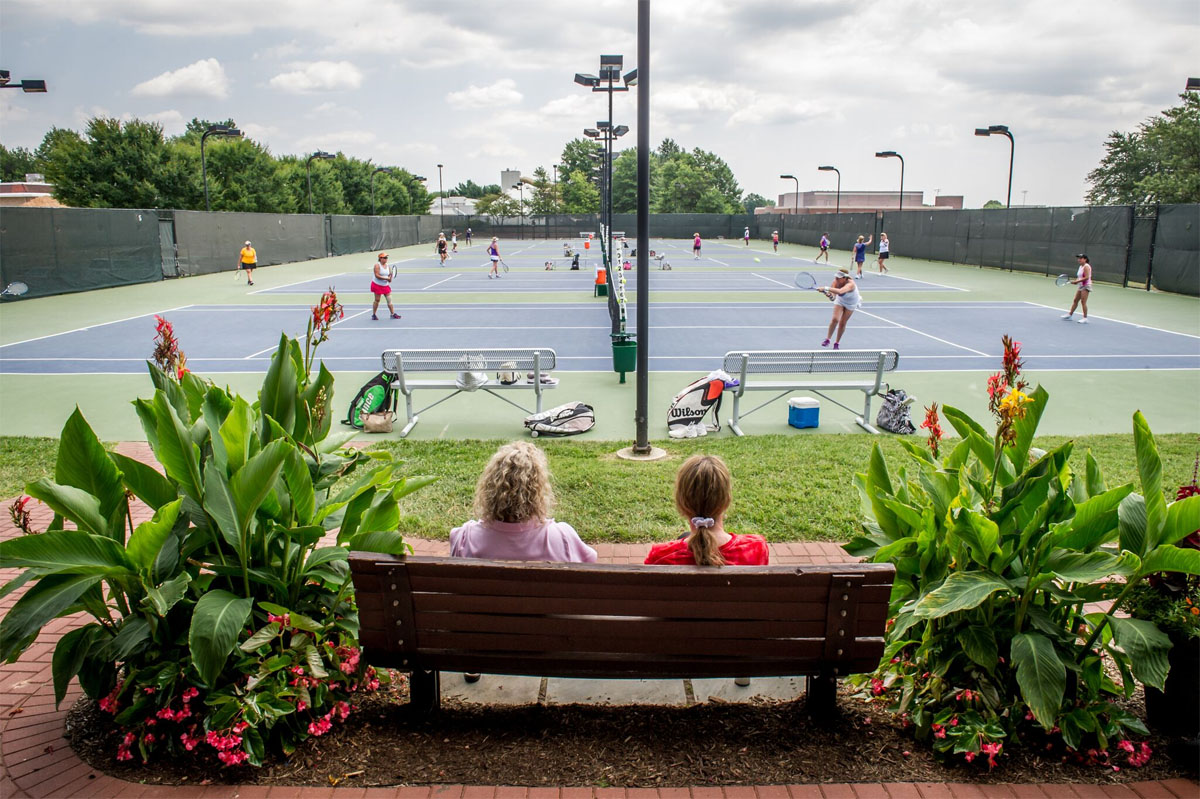 Wilde Lake Tennis Club is one of three tennis clubs in Columbia, Maryland. Columbia Association, which manages the community, provides numerous recreational and cultural programs. (Courtesy Columbia Association)