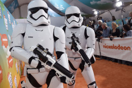 5. Star Wars characters. Stormtroopers arrive at the Kids' Choice Awards at The Forum on Saturday, March 12, 2016, in Inglewood, Calif. (Photo by Chris Pizzello/Invision/AP)