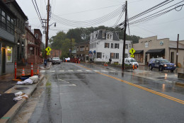 A view of Ellicott City under rainy skies Sept. 29. (Courtesy Howard County Office of Emergency Management/Facebook)
