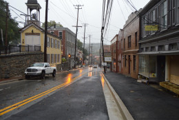 A view of Ellicott City's Main Street Sept. 29. (Courtesy Howard County Office of Emergency Management/Facebook)