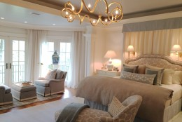 The master bedroom suite, designed by Victoria Sanchez of Victoria at Home, LLC and Victoria at Home. (WTOP/Rachel Nania)