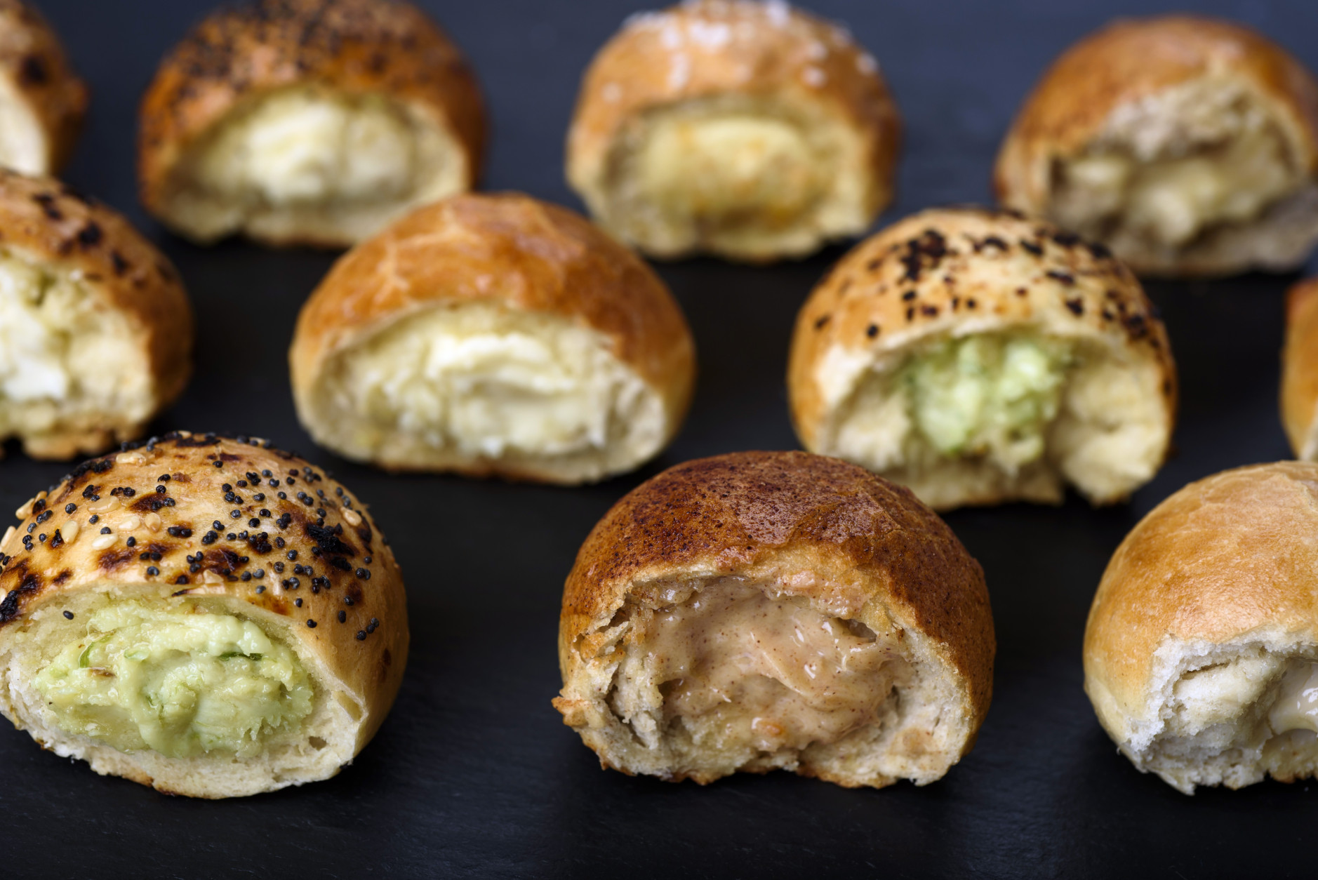 Bantam Bagels makes and sells bite-sized bagel balls, stuffed with cream cheese. The business started in New York's West Village and went national in September, 2016. (Photo by Karsten Moran, courtesy Bantam Bagels)