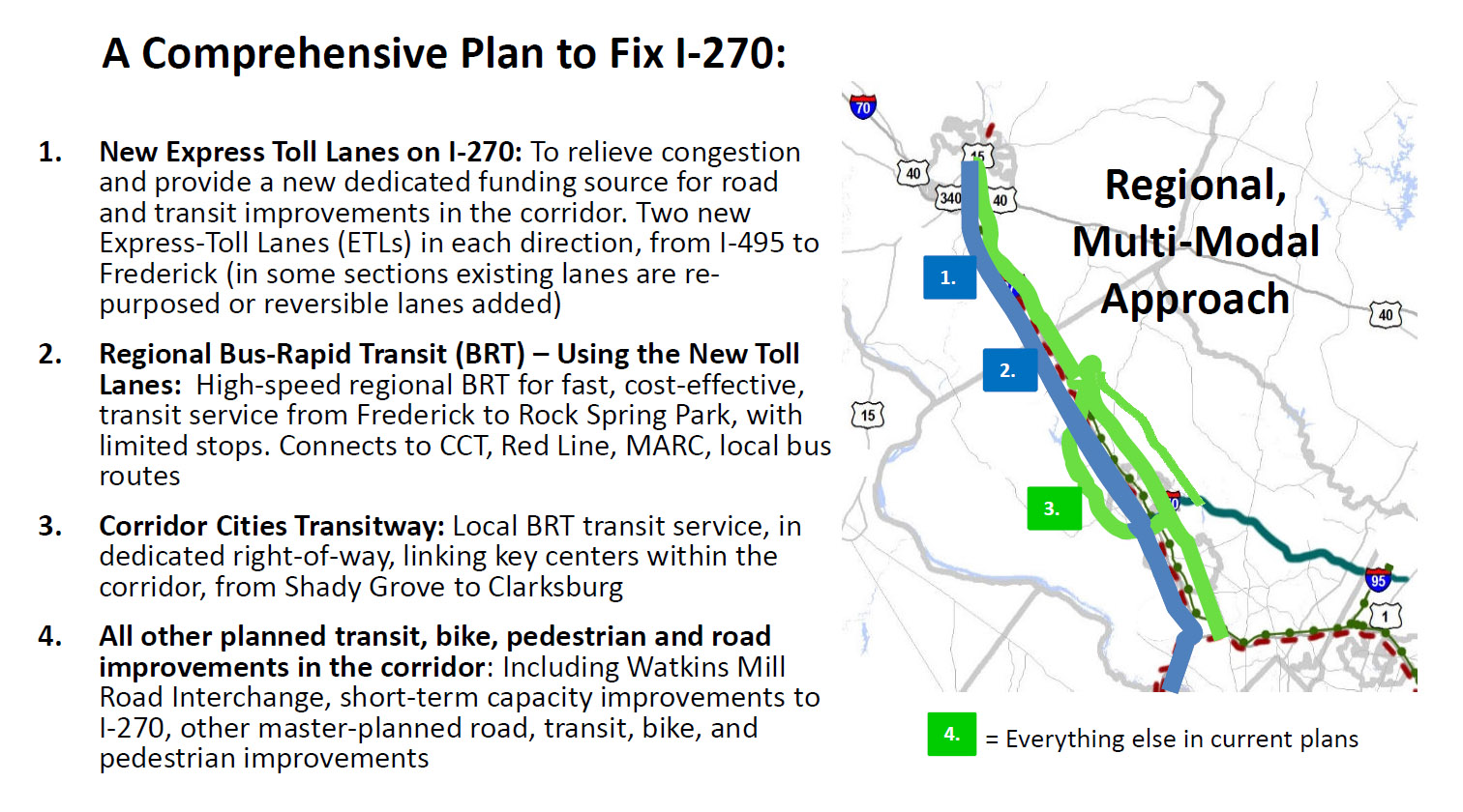 Coalition pushes for traffic improvements on I-270 | WTOP on hoover reservoir map, i 70 map, i 495 map, interstate 270 map,