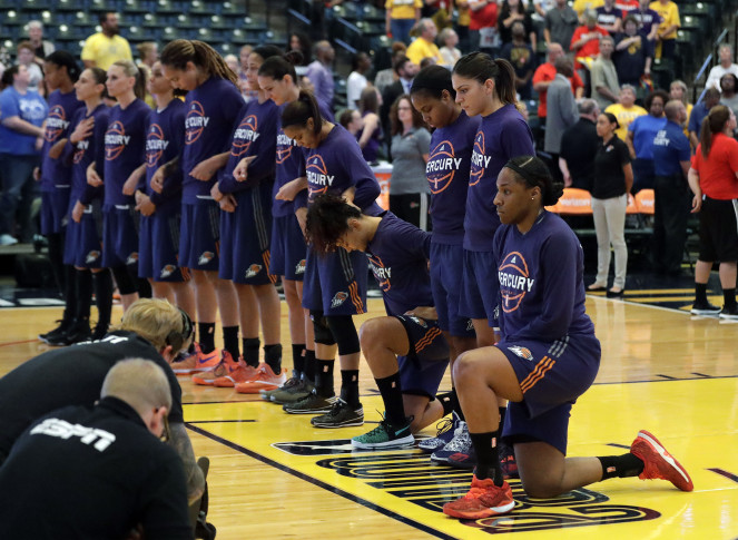 Mercury players will keep kneeling during anthem