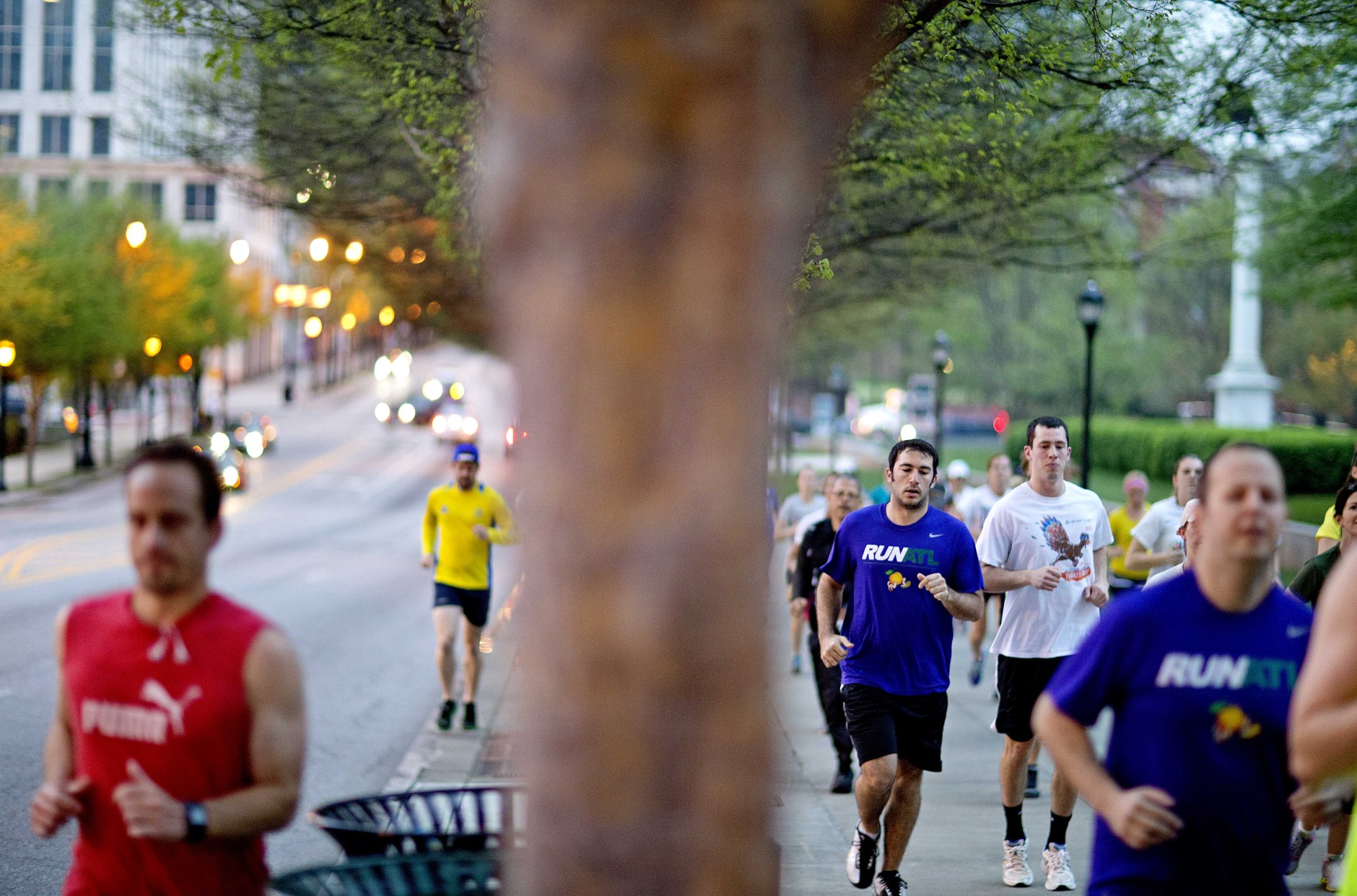 Held each July in Atlanta, the Peachtree Road Race is the largest 10K race in the world.  (AP Photo/David Goldman)