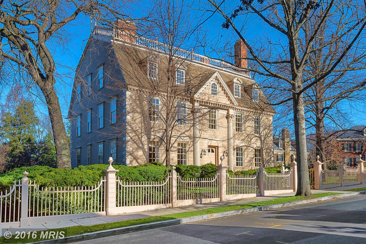 $7,100,000. 2401 Kalorama Road NW Washington, D.C. This colonial mansion in the tony Kalorama neighborhood of Northwest D.C  sold in August for $7.1 million. The mansion, originally built in 1754, has six bedrooms and seven bathrooms. (MRIS)