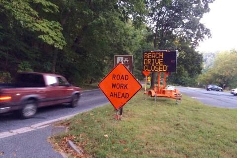 Dreaded closures begin on Beach Drive