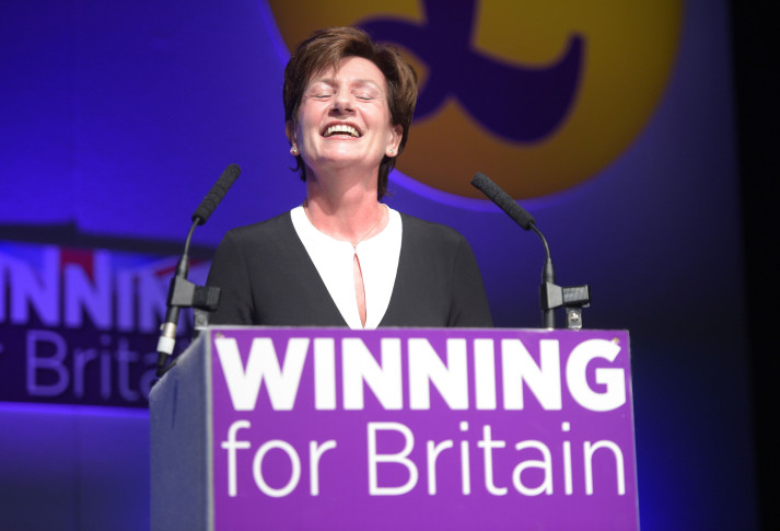 Diane James sees off rivals to replace Nigel Farage as Ukip leader