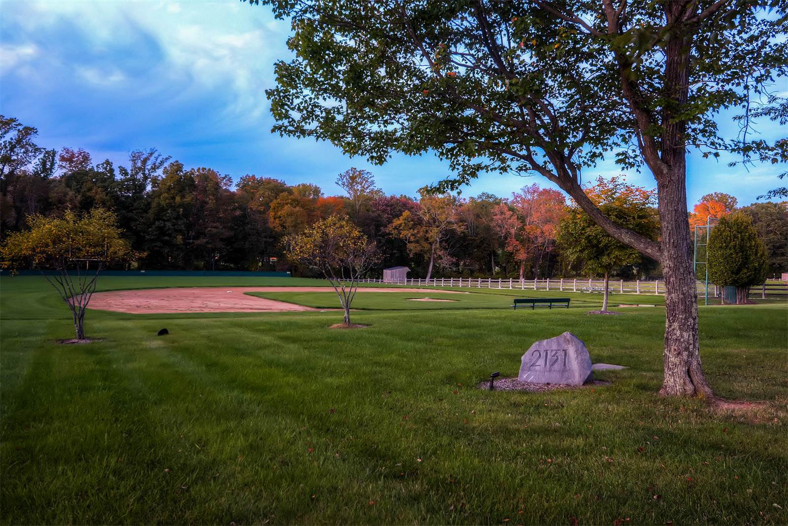The 25-acre secluded estate comes with a baseball diamond, trainers room, locker room and excercise room. (Courtesy Monument Sotheby's International Realty)