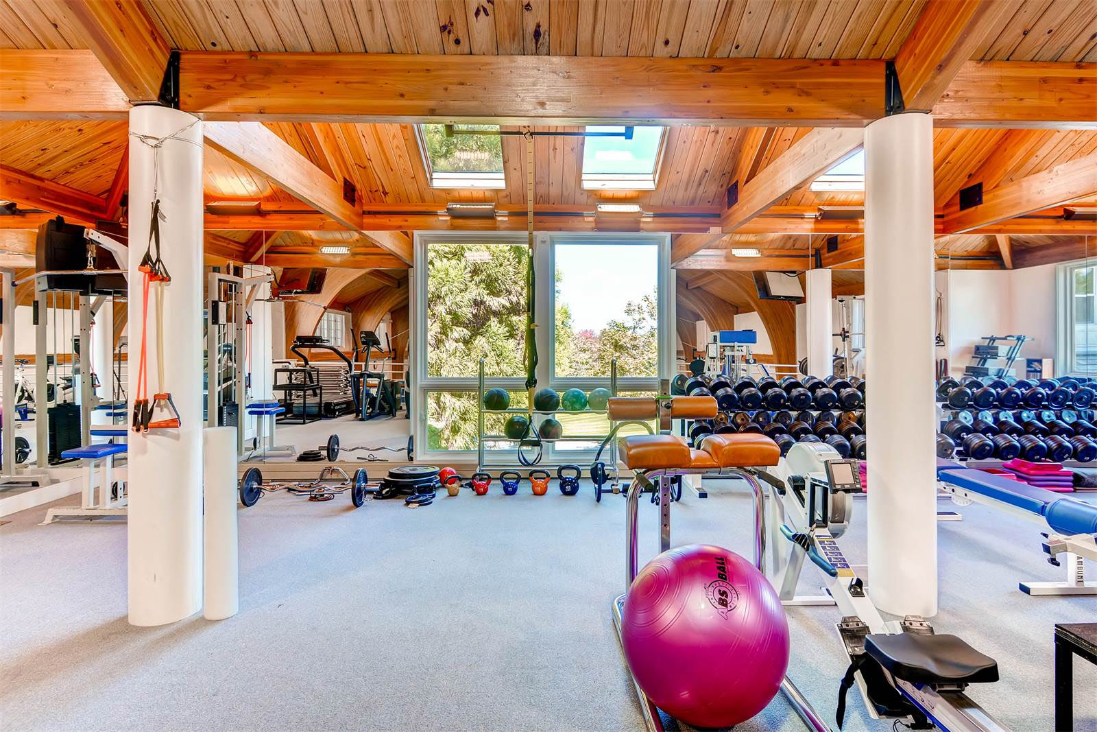 Cal Ripken Jr.'s 25-acre estates features an excercise room, trainer's room, locker room, indoor basketball court and a baseball diamond. (Courtesy Monument Sotheby's International Realty)