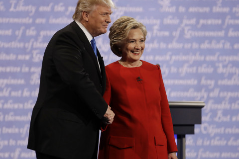AP FACT CHECK: Trump, Clinton deny their own words in debate