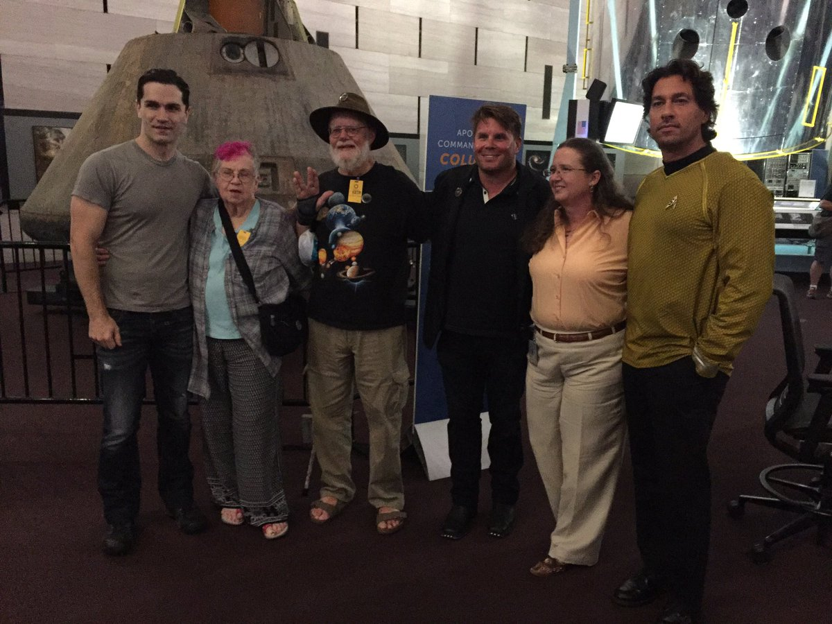 The judges of the costume contest in celebration of Star Trek's 50 anniversary at the National Air and Space Museum. (WTOP/Michelle Basch)