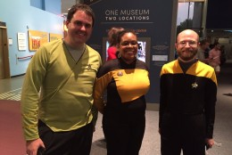 Trekkies attend the 50th anniversary celebration of the television series at the National Air and Space Museum. (WTOP/Michelle Basch)