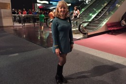 A trekkie attends the 50th anniversary celebration of the television series at the National Air and Space Museum. (WTOP/Michelle Basch)
