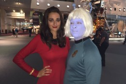 William Jjay won Best Original Series Costume. He's dressed as an Andorian. (WTOP/Michelle Basch)