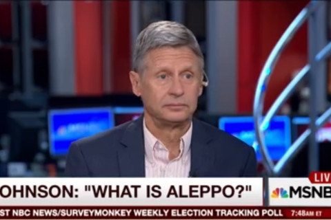 Libertarian presidential candidate Johnson asks 'What Is Aleppo?' in TV interview