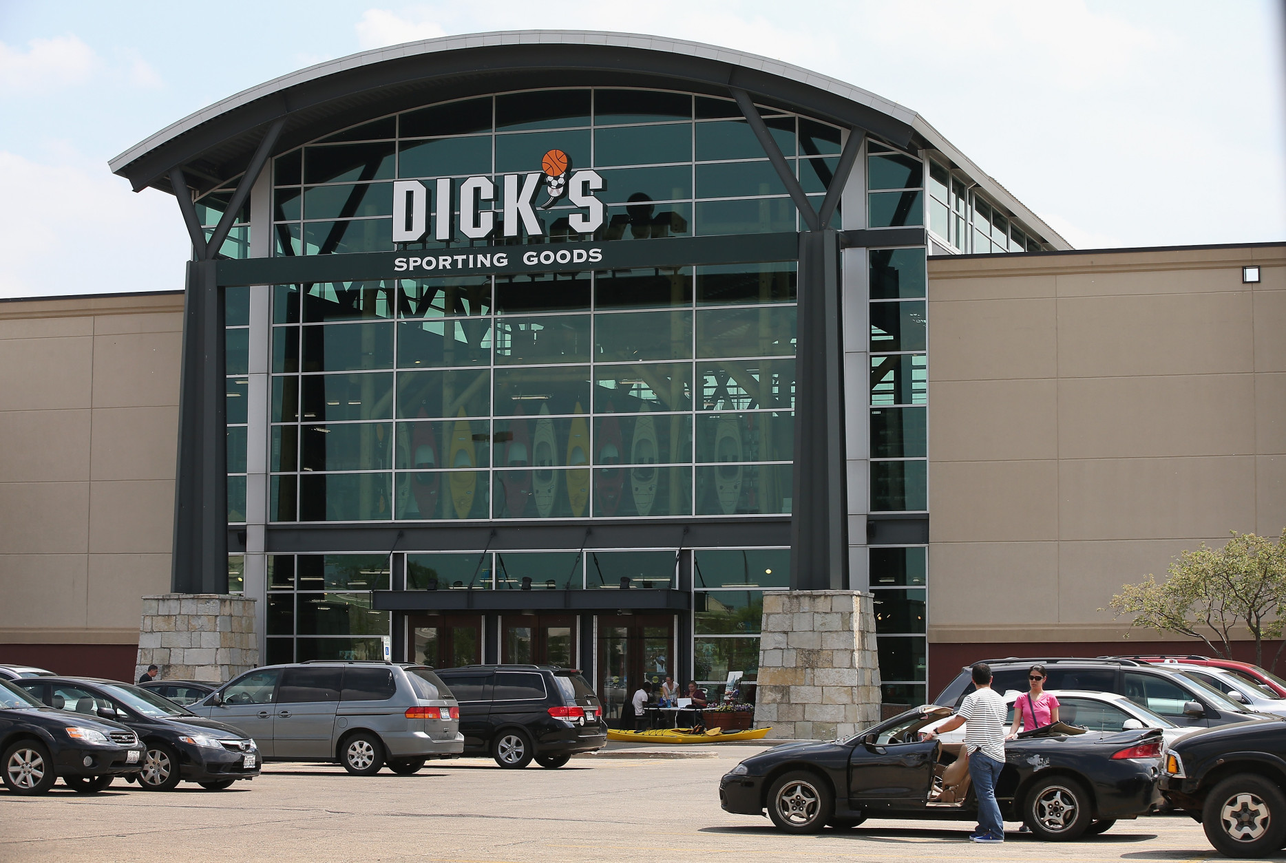 Pittsburgh-based Dick's Sporting Goods has been around since 1948. It has 645 stores nationwide.  (Photo by Scott Olson/Getty Images)