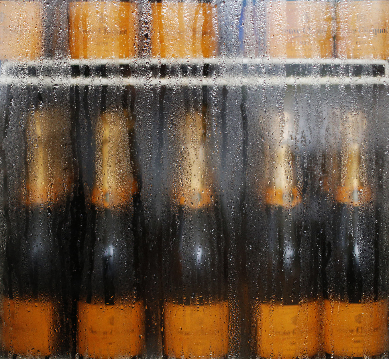 YORK, ENGLAND - AUGUST 18: Champagne cools in the fridge as the champagne garden prepares for Ladies Day at York racecourse on August 18, 2016 in York, England. (Photo by Alan Crowhurst/Getty Images)