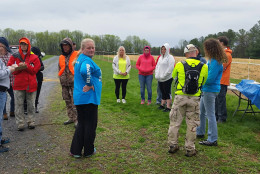 Volunteers gathered at Goshen Recreational Park in Montgomery County on Saturday, April 2, 2016 to continue searching for Sarah and Jacob Hoggle, who disappeared in September 2014. (WTOP/Kathy Stewart)