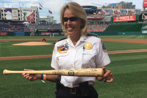 Washington Nationals honored departing DC police chief