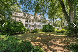 The historic Kent Manor Inn, a popular venue for weddings and other events, features luxury accommodations, water views, an outdoor pool, two banquet spaces for up to 450 people and a dock.  The property is being auctioned off as part of a bankruptcy. (Courtesy Realty Markets)