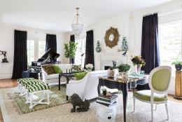 The living room at the 2016 DC Design House, designed by Pamela Harvey.  (Courtesy Angie Seckinger/DC Design House)