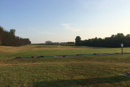 The grass driving range. There is also a turf range, as well as a two acre practice area. (WTOP/Noah Frank)