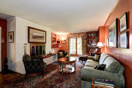 This photo provided by Thomas and Talbot Real Estate shows one of the rooms inside the Wexford Estate, a four-bedroom country house in Marshall, Virginia. Built in 1963, Jacqueline Kennedy Onassis designed the house as a retreat for her young family. Ronald and Nancy Reagan used the home during his 1980 presidential campaign.  (Courtesy Thomas and Talbot Real Estate and Mona Botwick Photography)