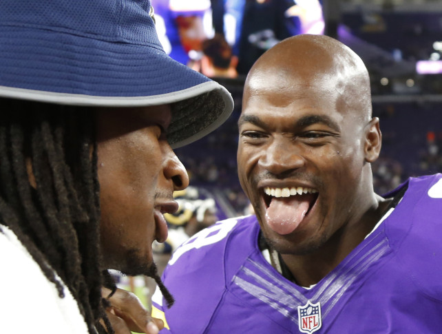 Pressure's on Adrian Peterson again, story of his Vikings career