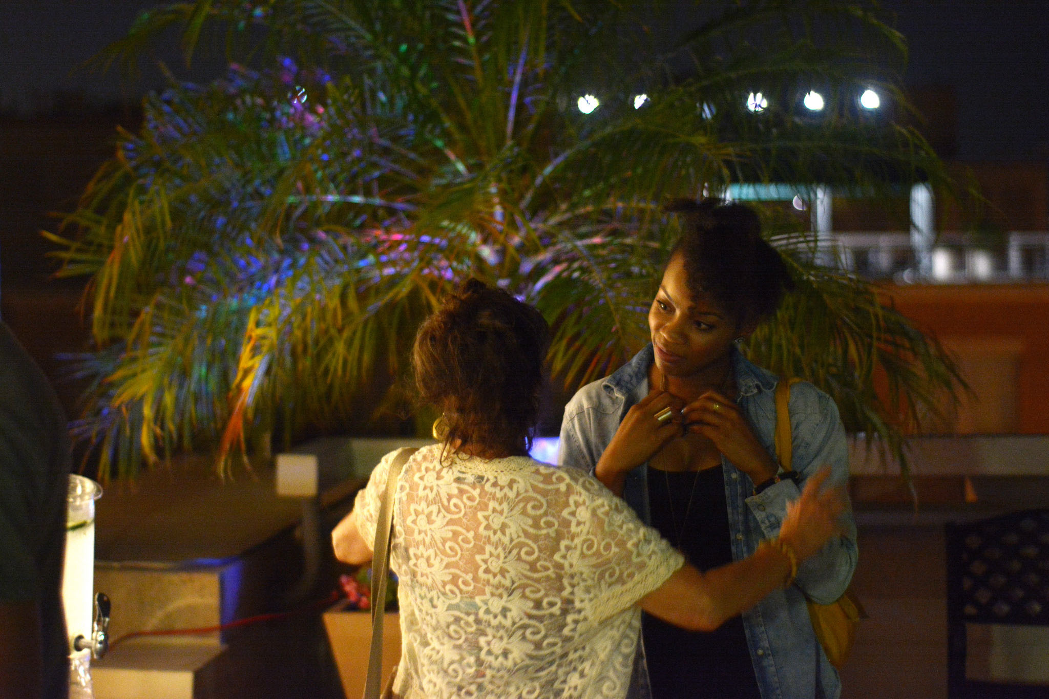 Filmmakers and guests mingle at a rooftop party at DC Shorts. (Courtesy DC Shorts)