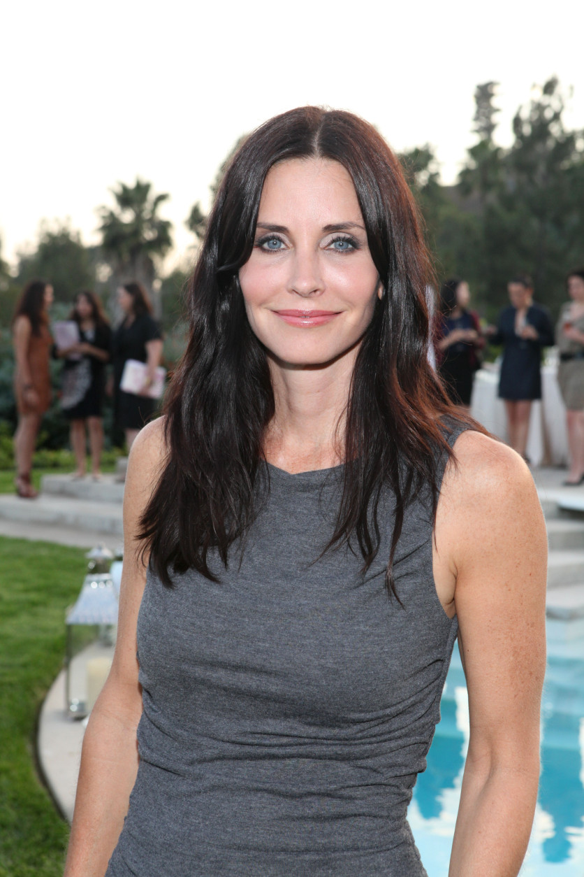 Courtney Cox attends the Beau Joie Champagne Art Of Elysium Dinner hosted by Rachel Bilson and held at David Arquette's home on Tuesday, June 28, 2011 in Beverly Hills, Calif. (Casey Rodgers/AP Images for InStyle)