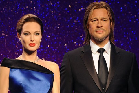 Angelina Jolie and Brad Pitt's wax figures have split, too