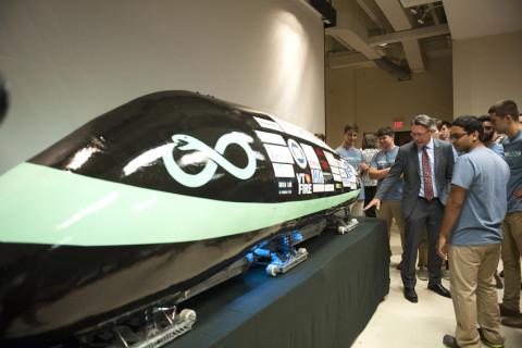 Virginia Tech students test their Hyperloop pod