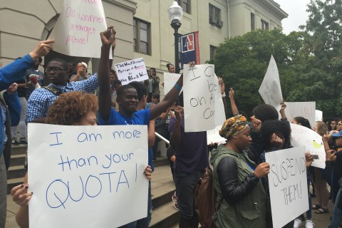 American University students protest in wake of racist incidents (Photos)