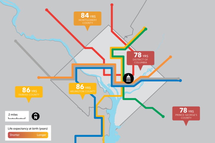 How Long Will You Live It Might Depend On Your Metro Stop Wtop