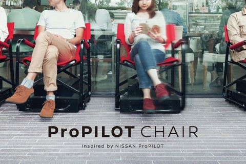 Too lazy to stand in line? Nissan has autonomous driving chairs