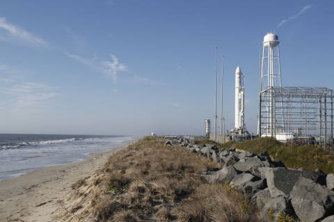 All systems go for Orbital ATK's Antares rocket launch Monday