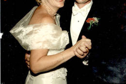 """This is the last photo of Roxanne Kaylor and her son, Jeff, at his wedding in the summer of 2002. Shortly after, he was deployed to the Middle East. """"I was almost scared for him. Because I did not know what was coming down the pipeline,"""" she said. (Courtesy Roxanne Kaylor)"""