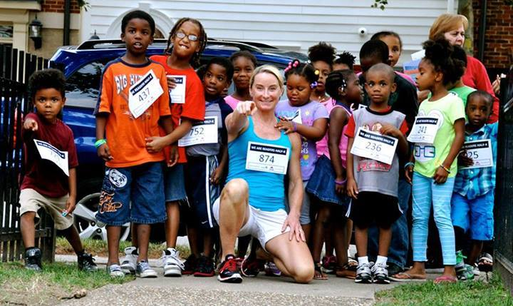 "Since its inception, RunningBrooke has helped more than 5,000 children. ""You think about the kids that you're helping and that makes it all worthwhile for me,"" Brooke Sydnor Curran says. (Courtesy Brooke Sydnor Curran)"