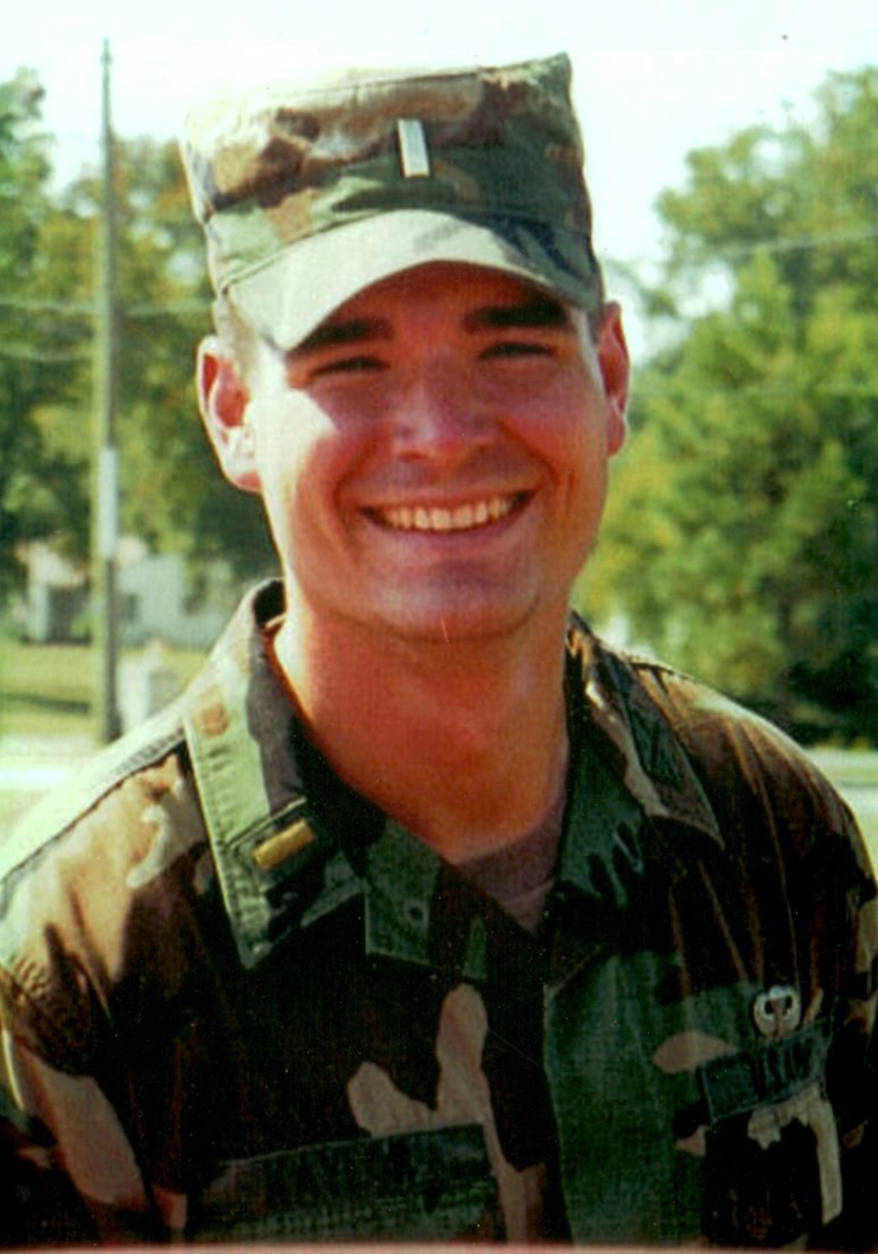 """On April 7, 2003, the family got a call. """"We just sat there, stunned. I just never thought this would happen to him,"""" Roxanne said. Kaylor, 24, was killed by a grenade. """"I just hope I get to see him again. Sometime,"""" she said.(Courtesy Roxanne Kaylor)"""