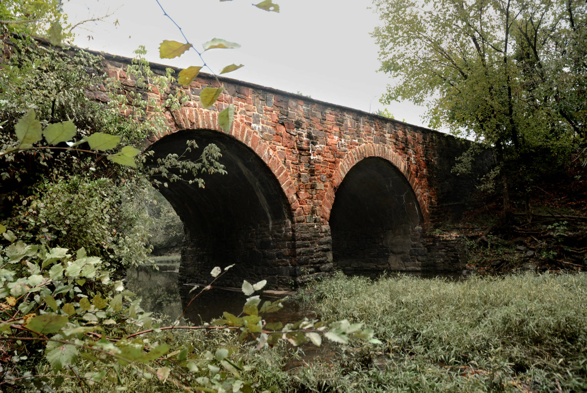 Bull Run Stone Bridge – Manassas, Va.  The original bridge was destroyed by Confederate troops after the First Battle of Manassas. The current structure dates back to the Reconstruction era. (WTOP/Dave Dildine)